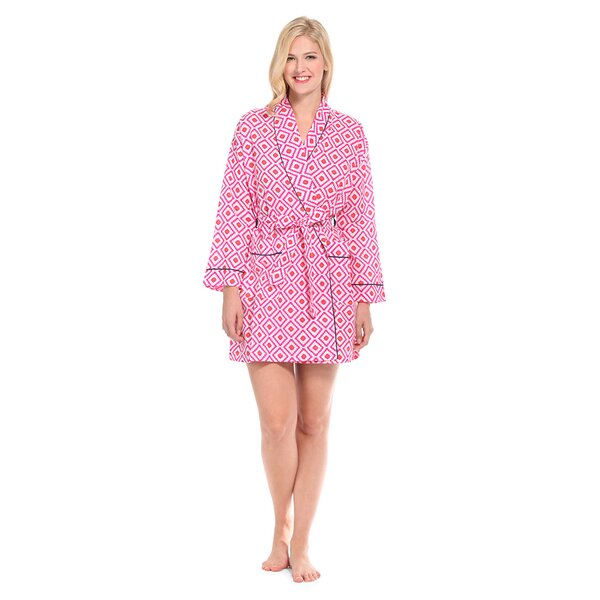 Hopi Short 100% Cotton Bathrobe by Malabar Bay, LLC